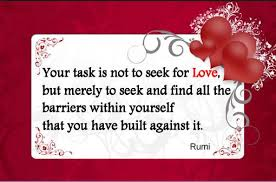 remove the barriers of love of self